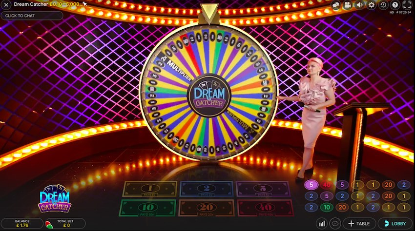 Dream Catcher Game at Live Casinos