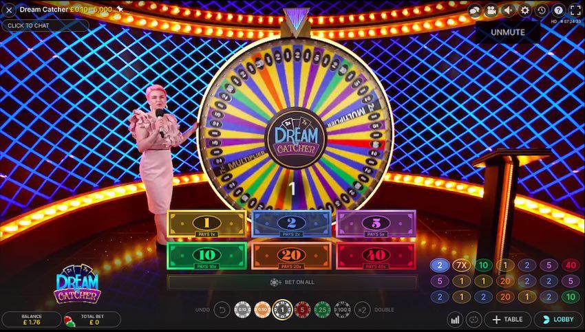 Dream Catcher Live Screen Wheel