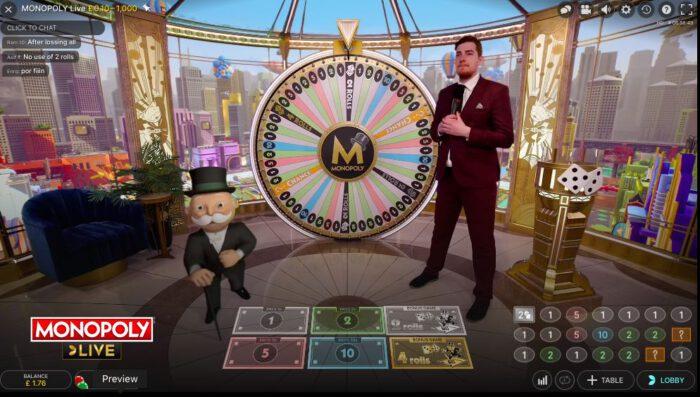 Monopoly Live Screen
