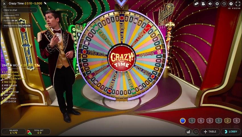 Crazy Time Wheel
