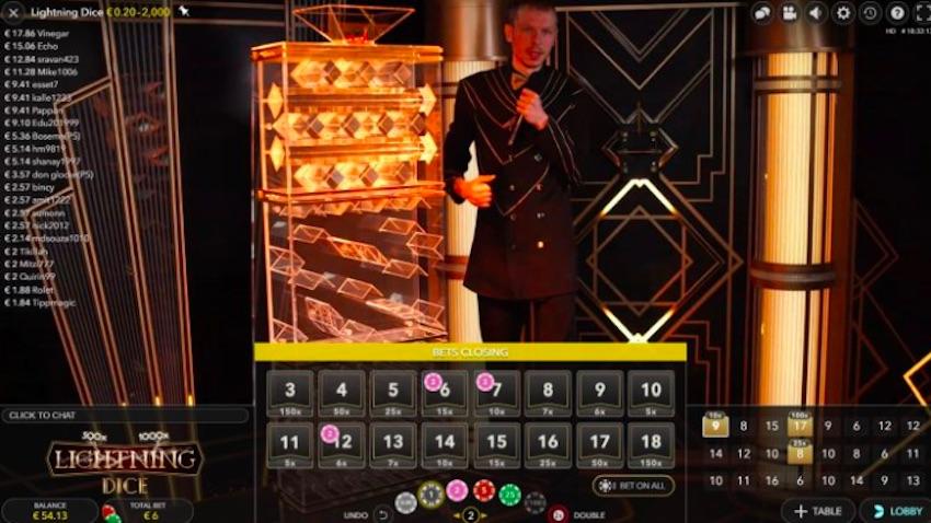 Lightning Dice Game Screen