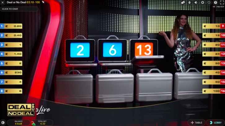 Deal Or No Deal Live Screen